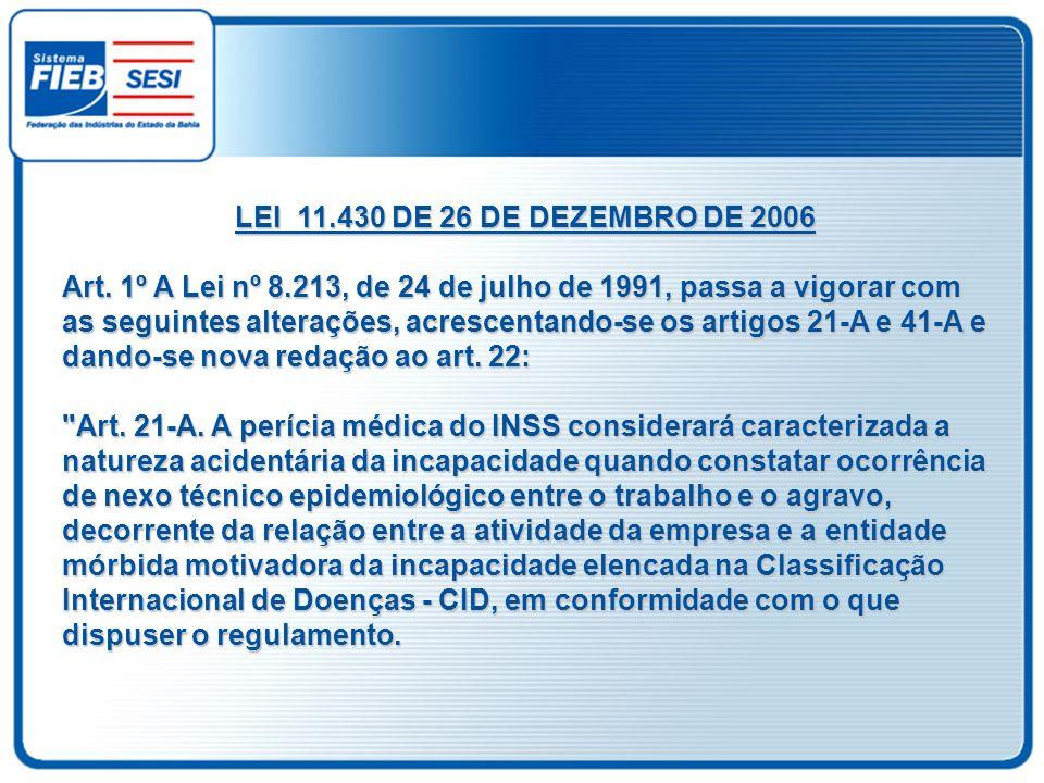 LEI 11.430 DE 26 DE DEZEMBRO DE 2006