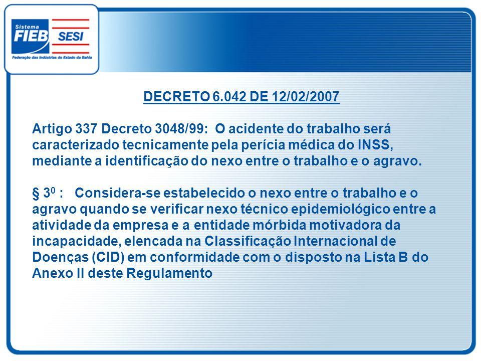 DECRETO 6.042 DE 12/02/2007