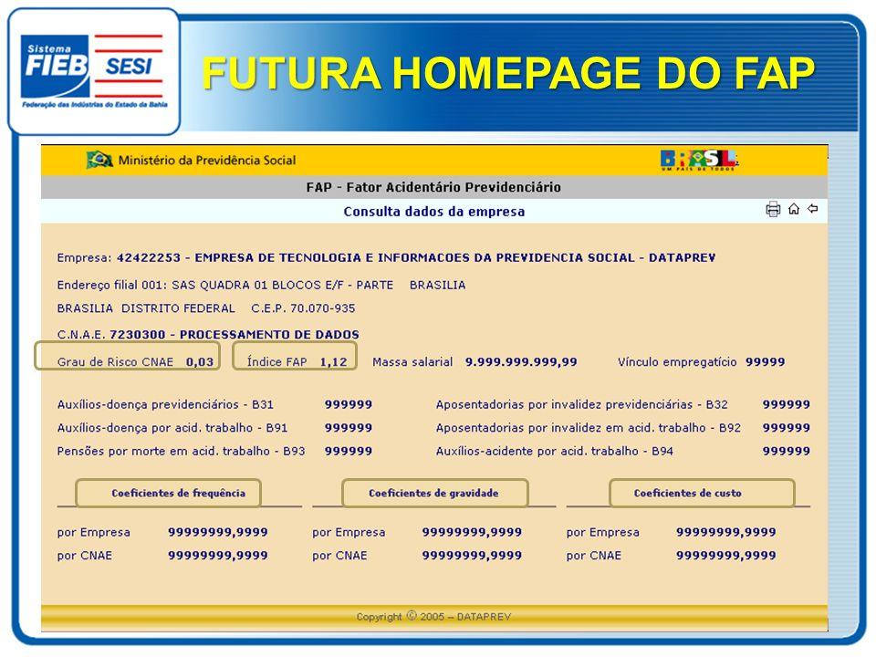 FUTURA HOMEPAGE DO FAP
