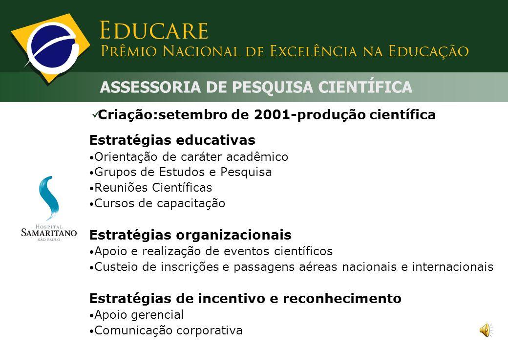 ASSESSORIA DE PESQUISA CIENTÍFICA
