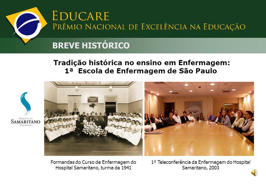 BREVE HISTÓRICO Tradição histórica no ensino em Enfermagem: 1ª Escola de Enfermagem de São Paulo.