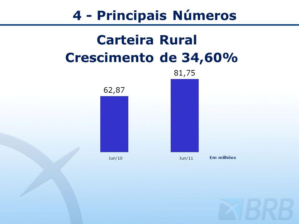 4 - Principais Números Carteira Rural Crescimento de 34,60%