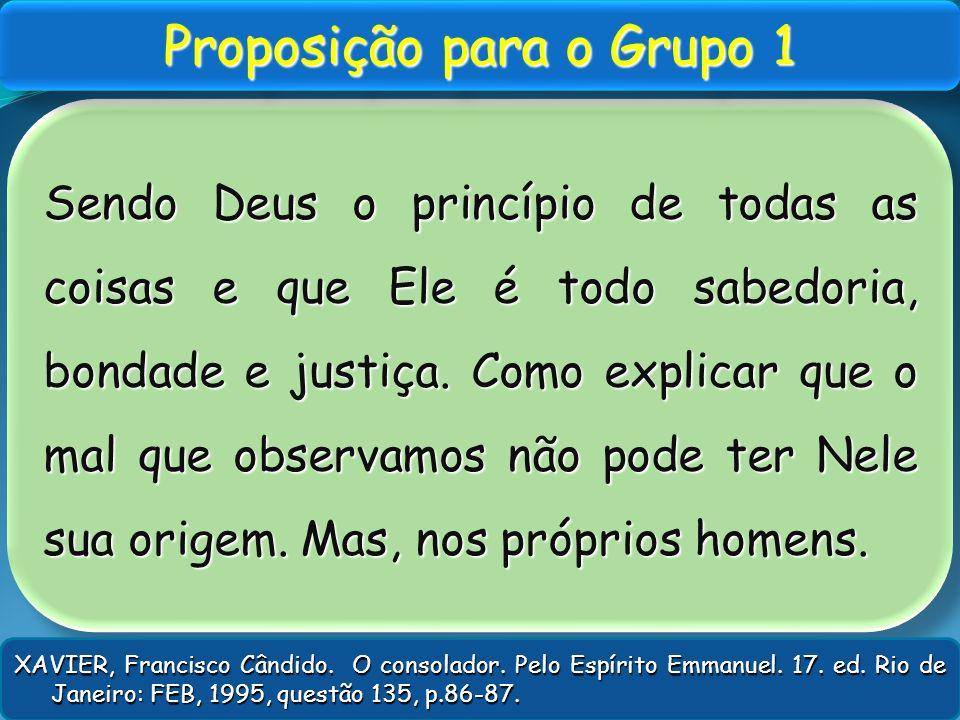 Proposição para o Grupo 1
