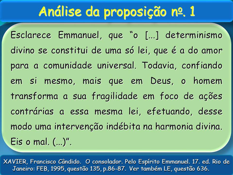 Análise da proposição no. 1