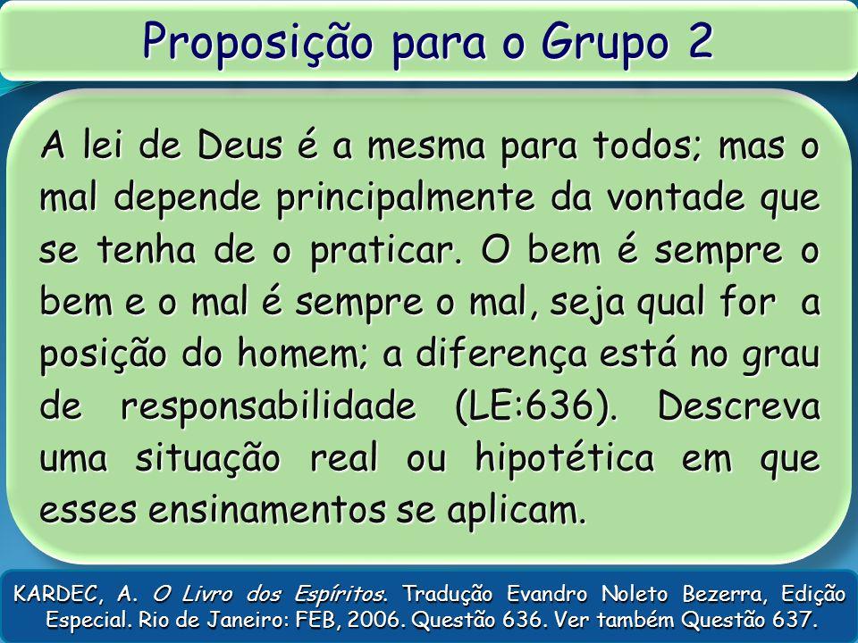 Proposição para o Grupo 2