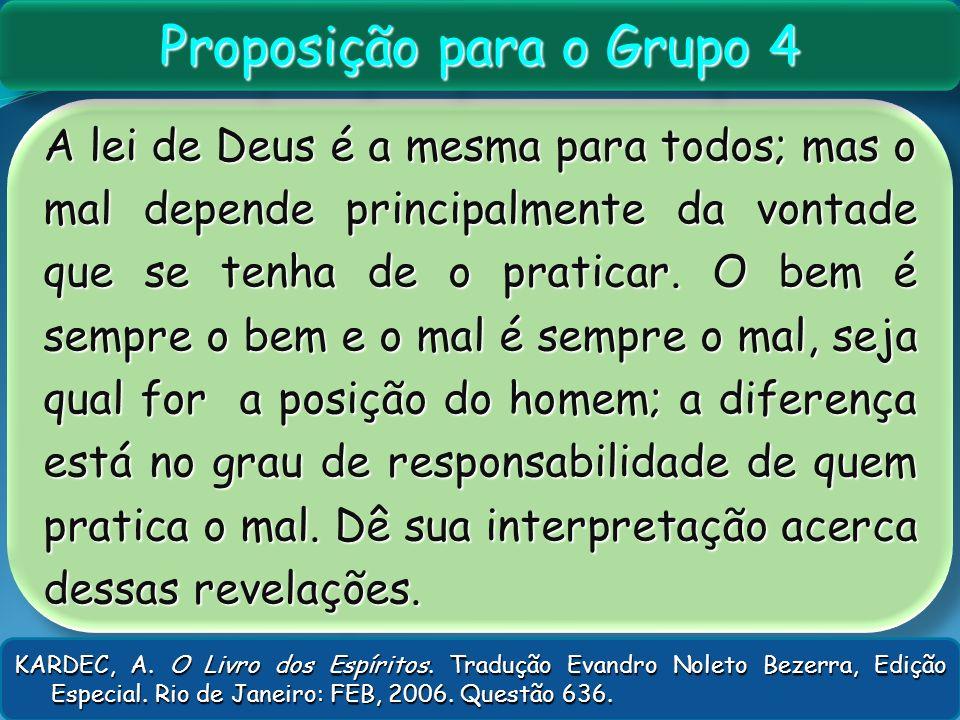 Proposição para o Grupo 4