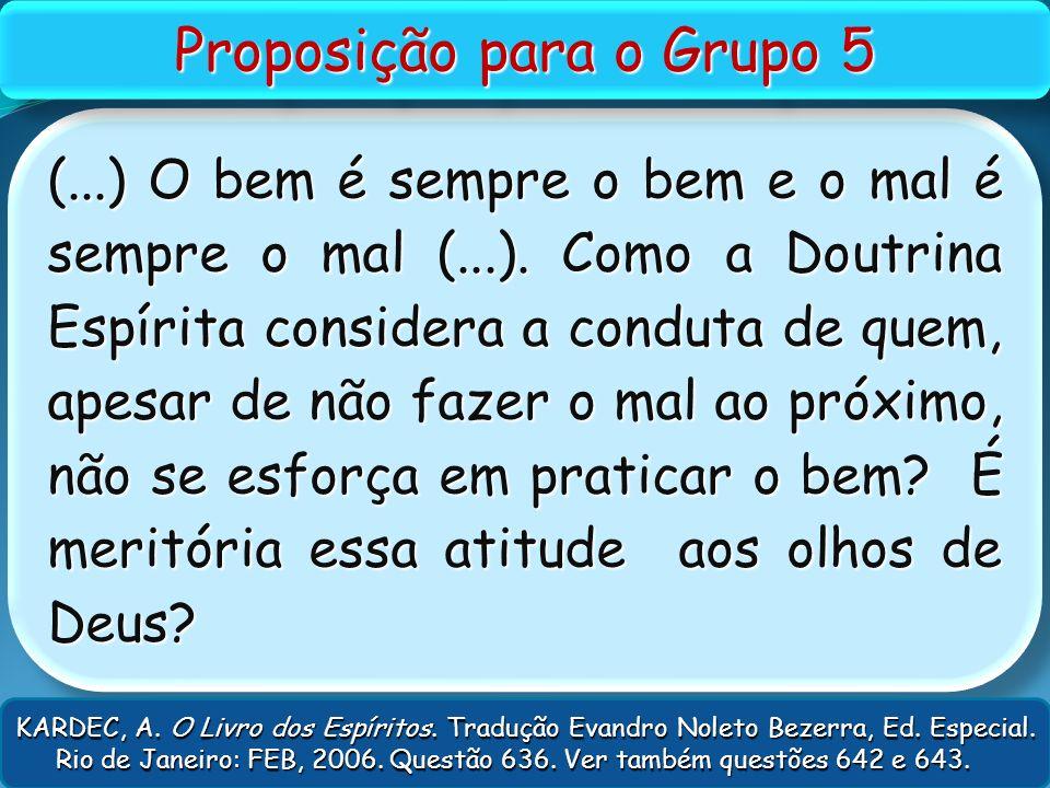 Proposição para o Grupo 5