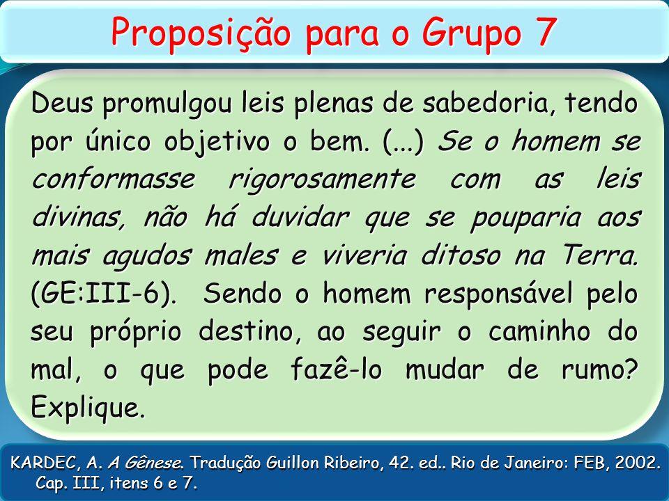 Proposição para o Grupo 7