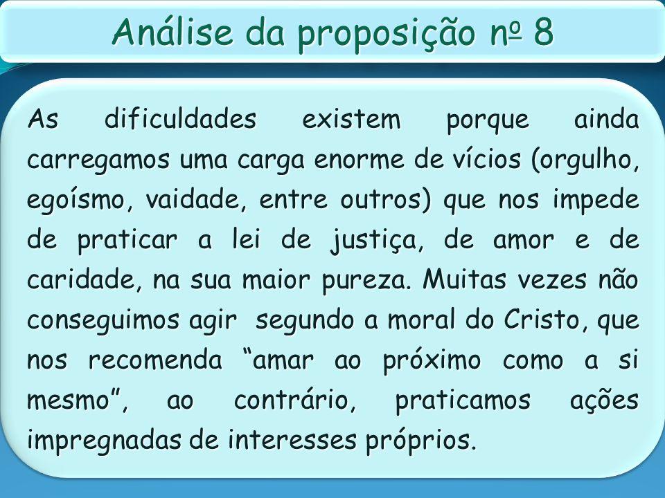 Análise da proposição no 8