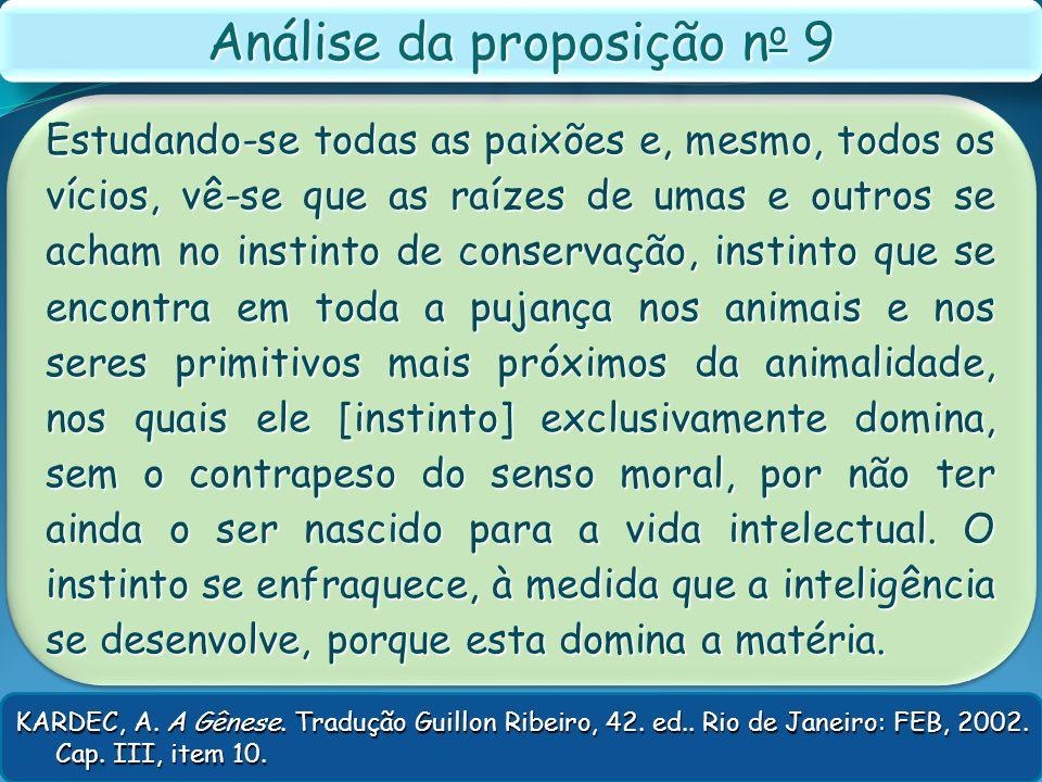 Análise da proposição no 9