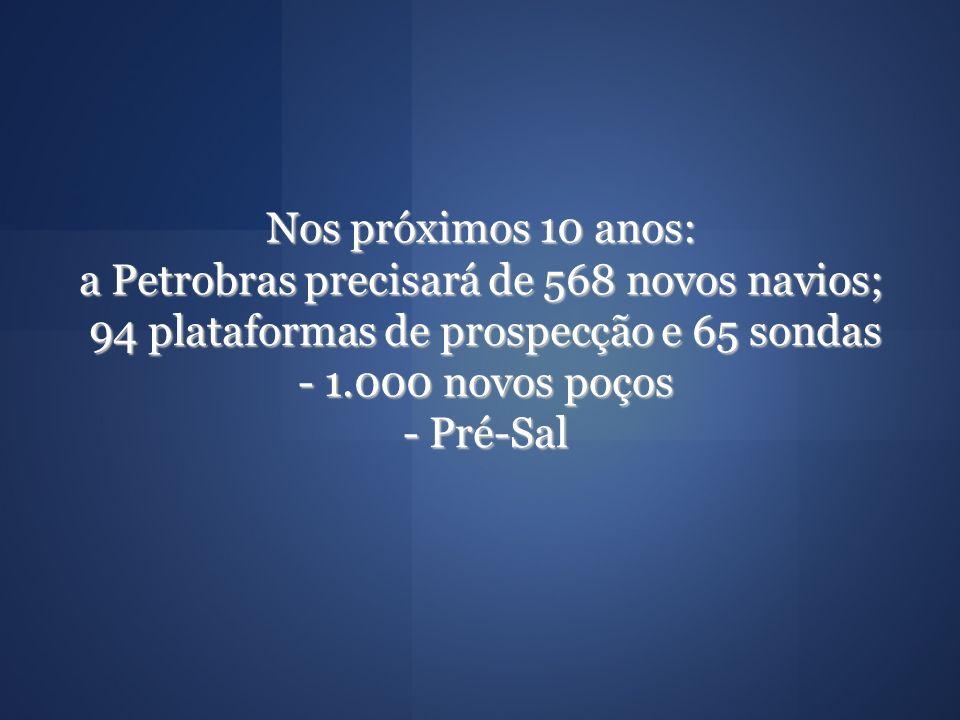 a Petrobras precisará de 568 novos navios;