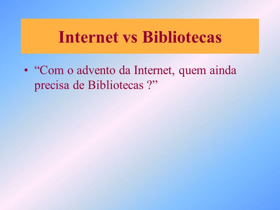 Internet vs Bibliotecas