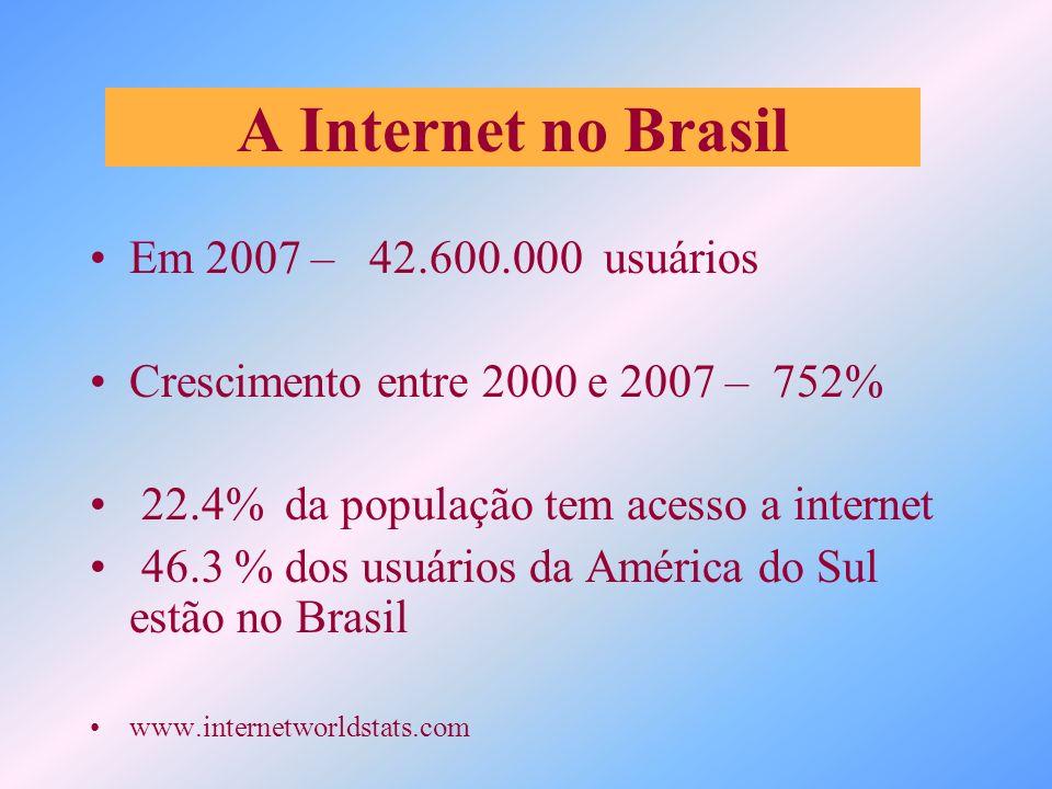 A Internet no Brasil Em 2007 – 42.600.000 usuários
