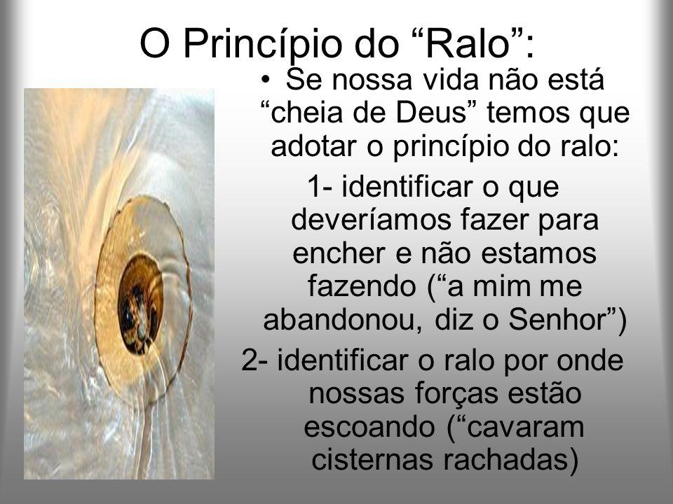 O Princípio do Ralo : Se nossa vida não está cheia de Deus temos que adotar o princípio do ralo: