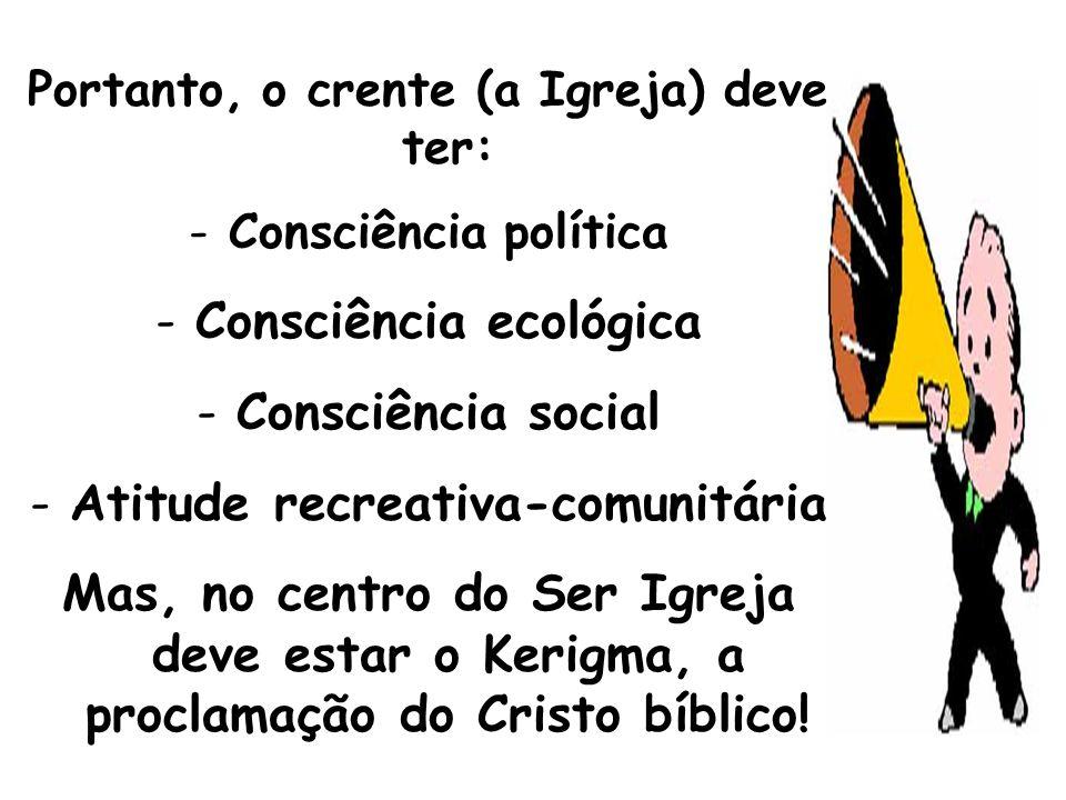 Consciência ecológica Consciência social