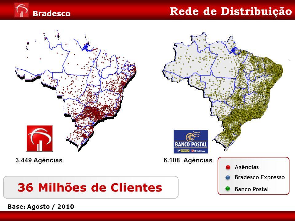Rede de Distribuição 36 Milhões de Clientes 3.449 Agências