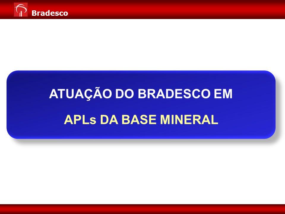 ATUAÇÃO DO BRADESCO EM APLs DA BASE MINERAL