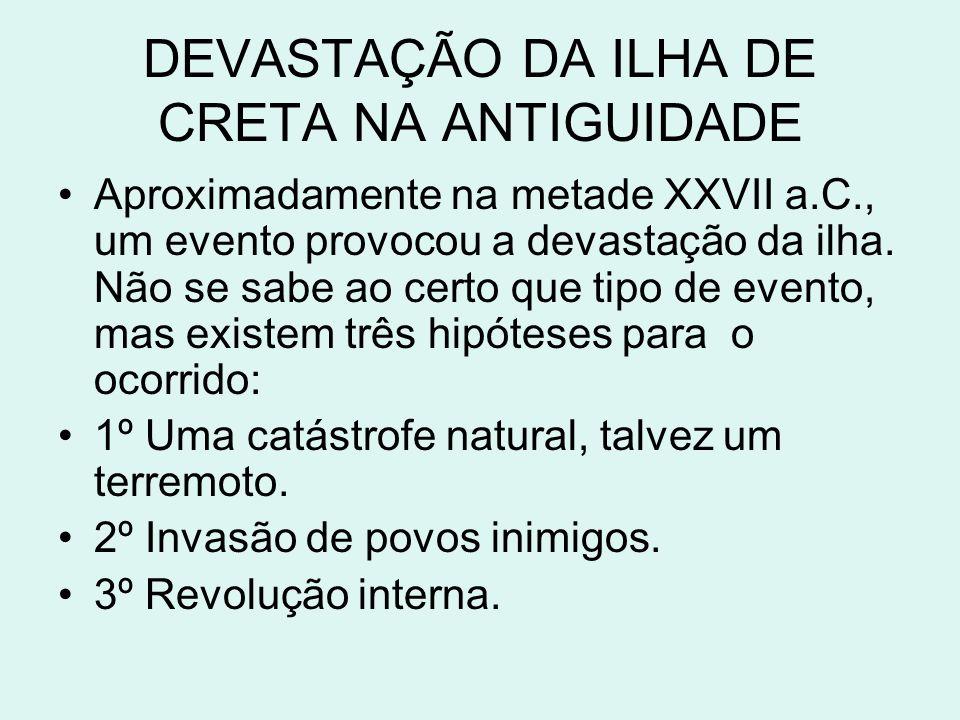 DEVASTAÇÃO DA ILHA DE CRETA NA ANTIGUIDADE