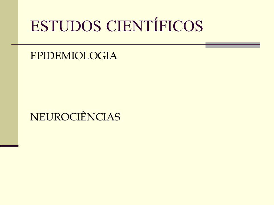 ESTUDOS CIENTÍFICOS EPIDEMIOLOGIA NEUROCIÊNCIAS