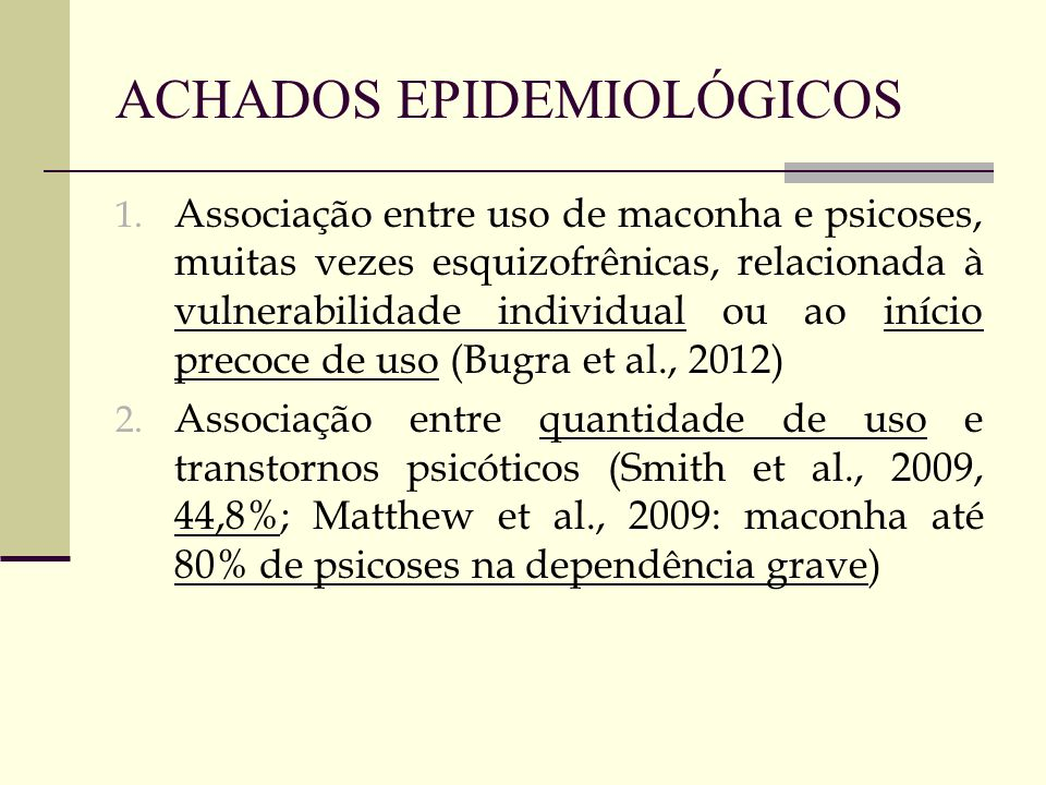 ACHADOS EPIDEMIOLÓGICOS