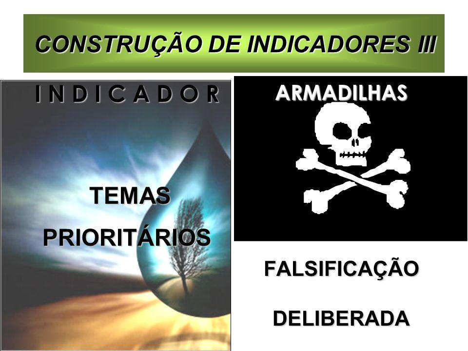 CONSTRUÇÃO DE INDICADORES III