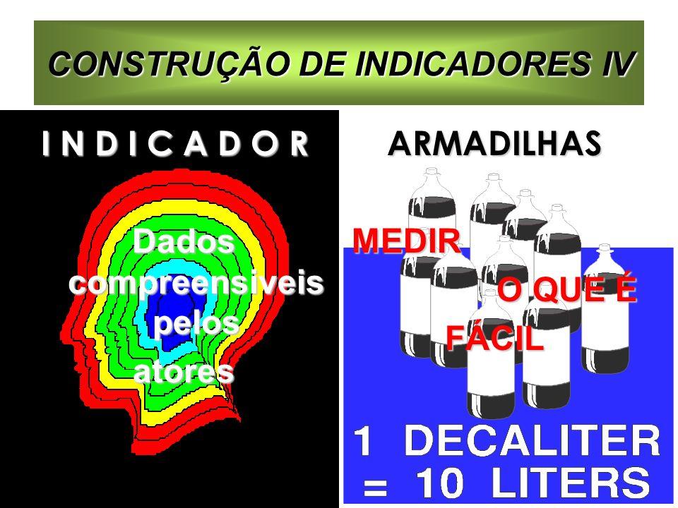 CONSTRUÇÃO DE INDICADORES IV