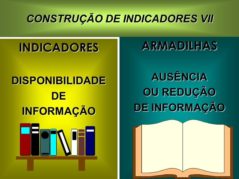CONSTRUÇÃO DE INDICADORES VII