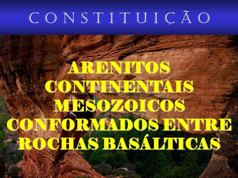 ARENITOS CONTINENTAIS MESOZOICOS CONFORMADOS ENTRE ROCHAS BASÁLTICAS