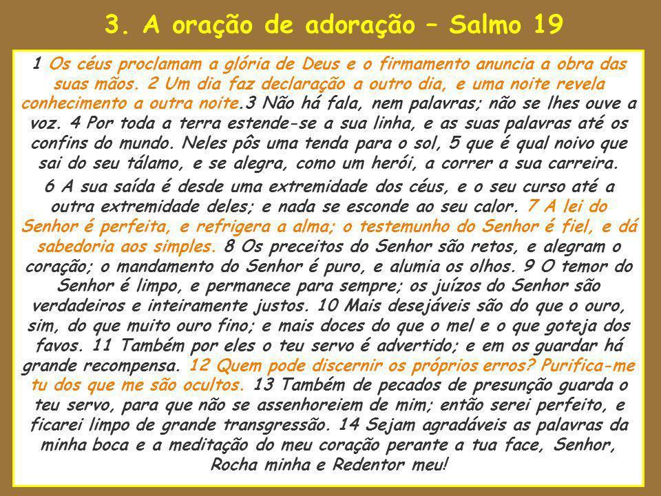 3. A oração de adoração – Salmo 19