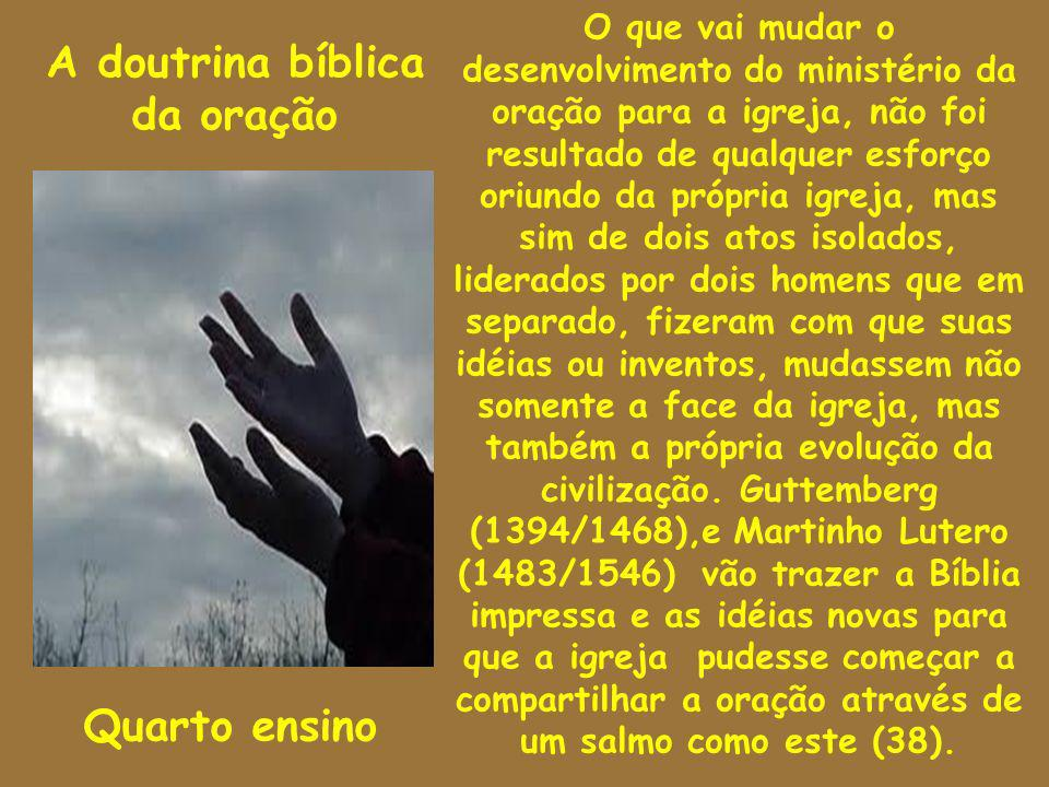 A doutrina bíblica da oração