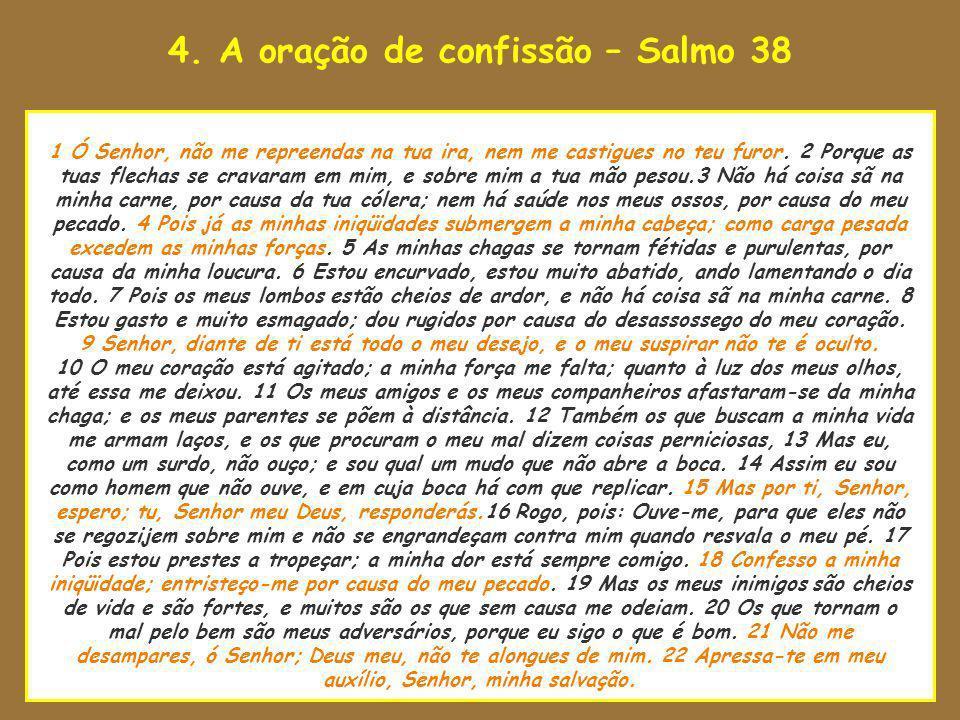 4. A oração de confissão – Salmo 38