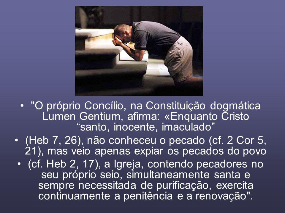 O próprio Concílio, na Constituição dogmática Lumen Gentium, afirma: «Enquanto Cristo santo, inocente, imaculado