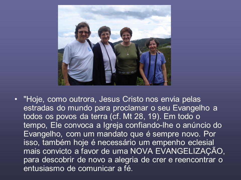 Hoje, como outrora, Jesus Cristo nos envia pelas estradas do mundo para proclamar o seu Evangelho a todos os povos da terra (cf.