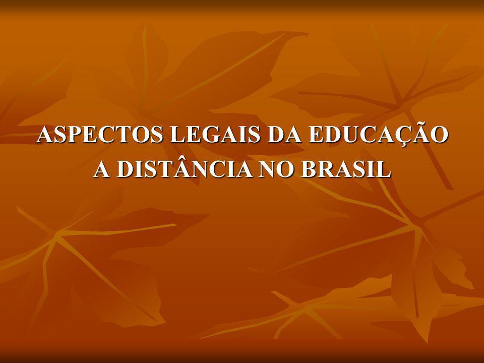ASPECTOS LEGAIS DA EDUCAÇÃO