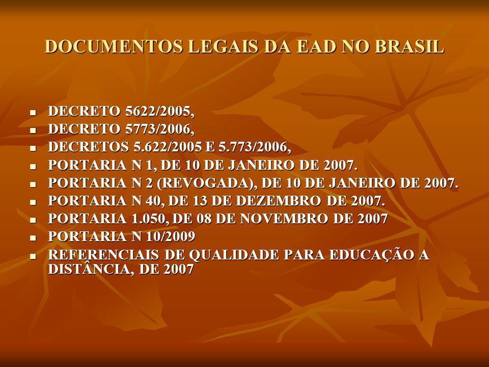 DOCUMENTOS LEGAIS DA EAD NO BRASIL