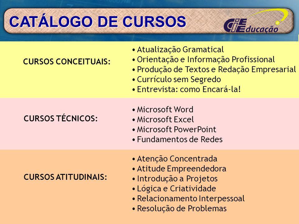 CATÁLOGO DE CURSOS Atualização Gramatical