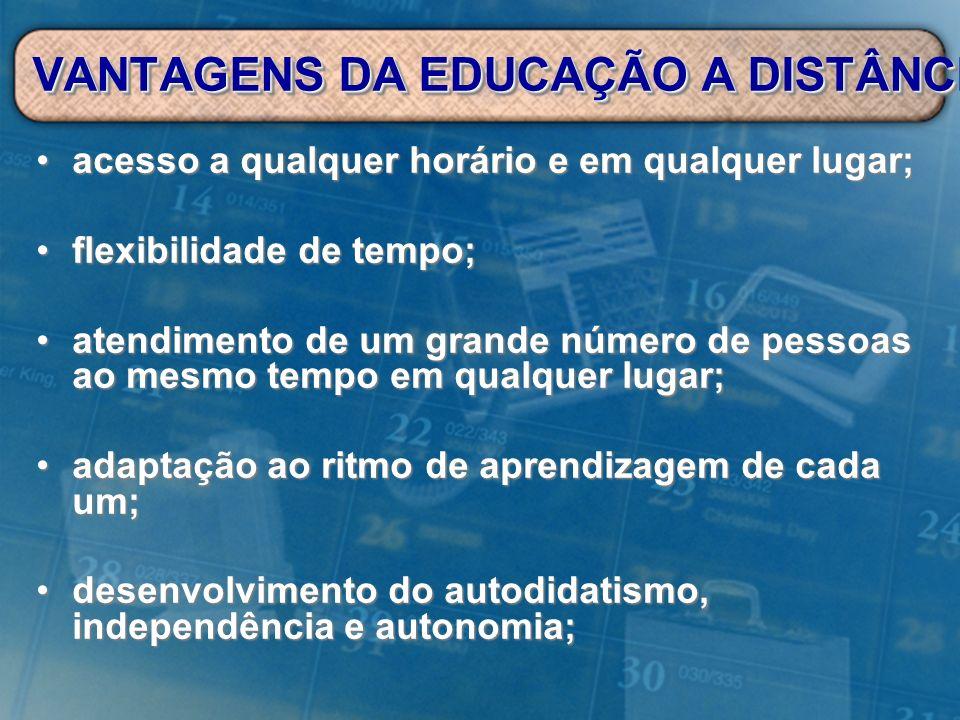 VANTAGENS DA EDUCAÇÃO A DISTÂNCIA