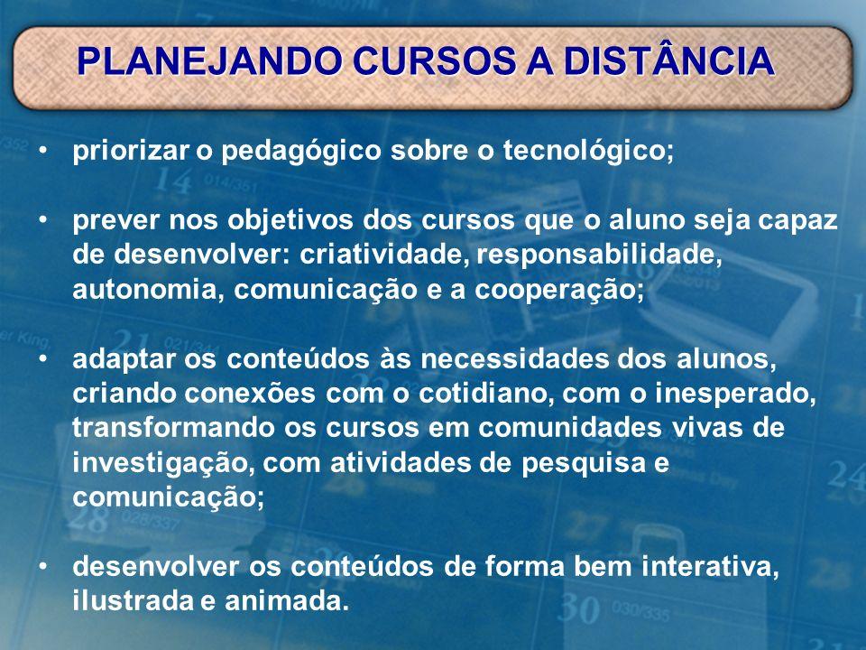 PLANEJANDO CURSOS A DISTÂNCIA