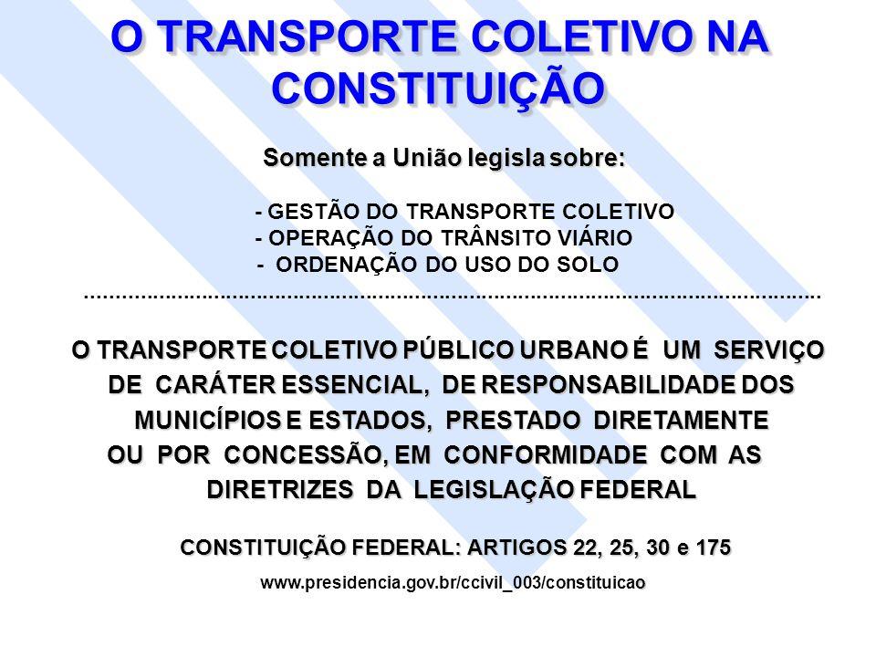 O TRANSPORTE COLETIVO NA CONSTITUIÇÃO