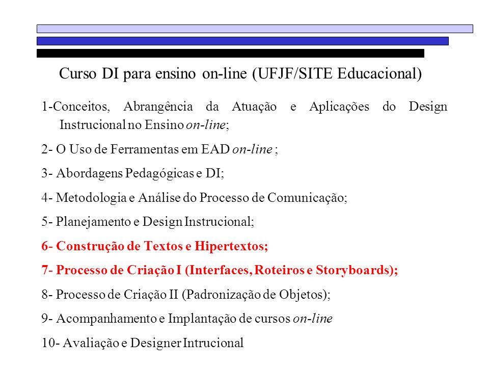 Curso DI para ensino on-line (UFJF/SITE Educacional)