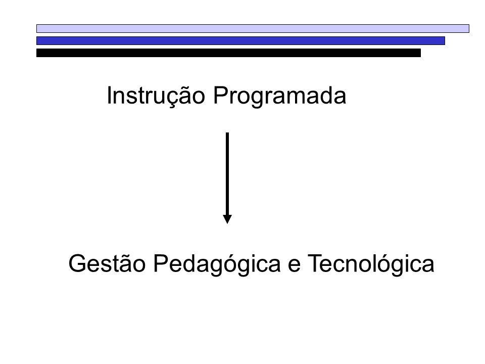 Instrução Programada Gestão Pedagógica e Tecnológica