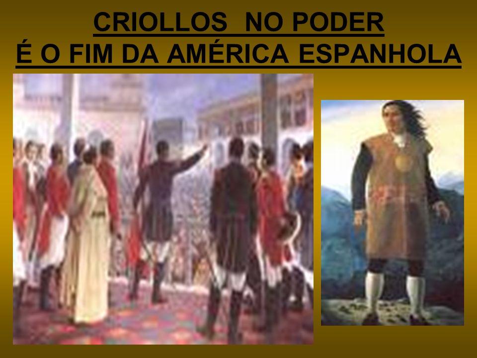 CRIOLLOS NO PODER É O FIM DA AMÉRICA ESPANHOLA