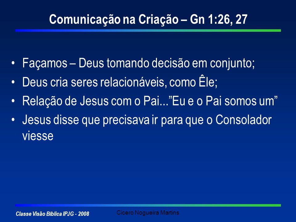 Comunicação na Criação – Gn 1:26, 27
