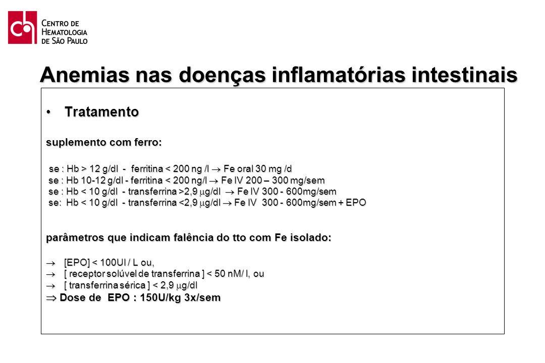 Anemias nas doenças inflamatórias intestinais