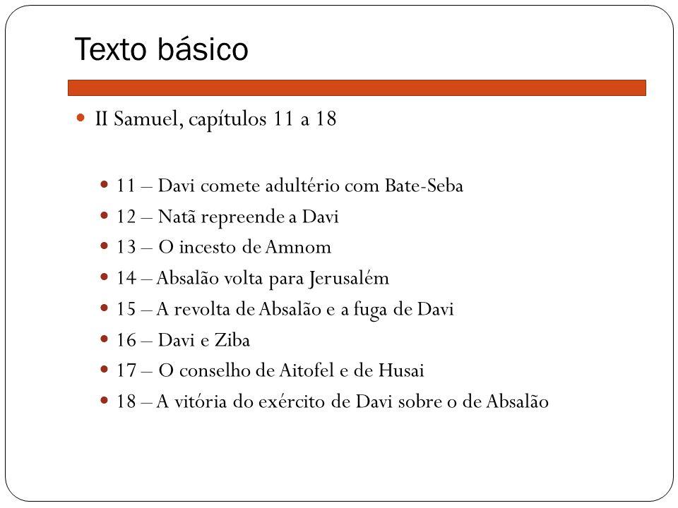 Texto básico II Samuel, capítulos 11 a 18