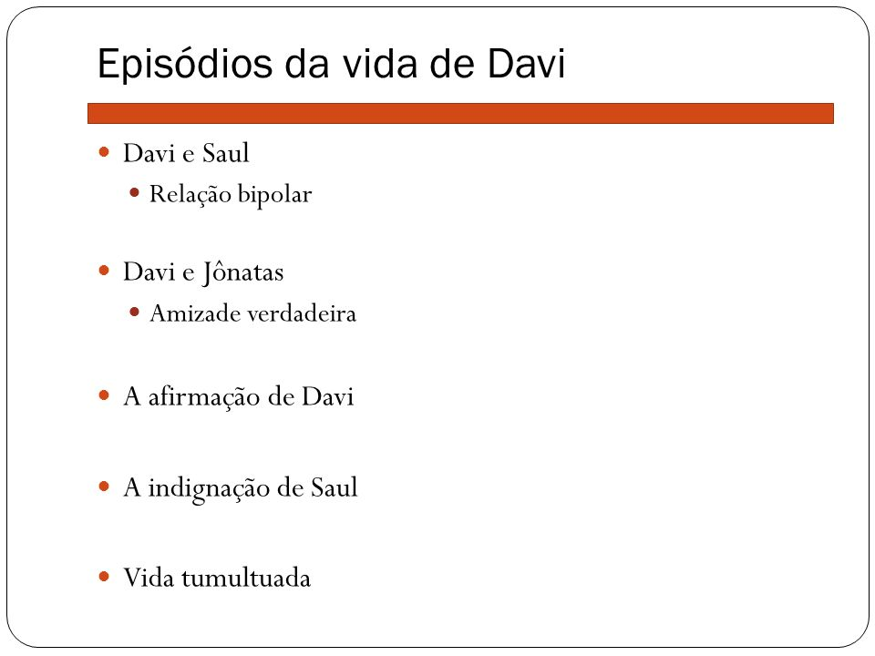 Episódios da vida de Davi