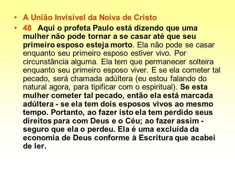 A União Invisível da Noiva de Cristo