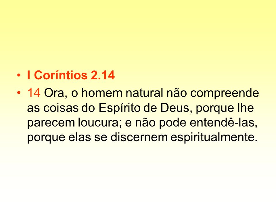 I Coríntios 2.14