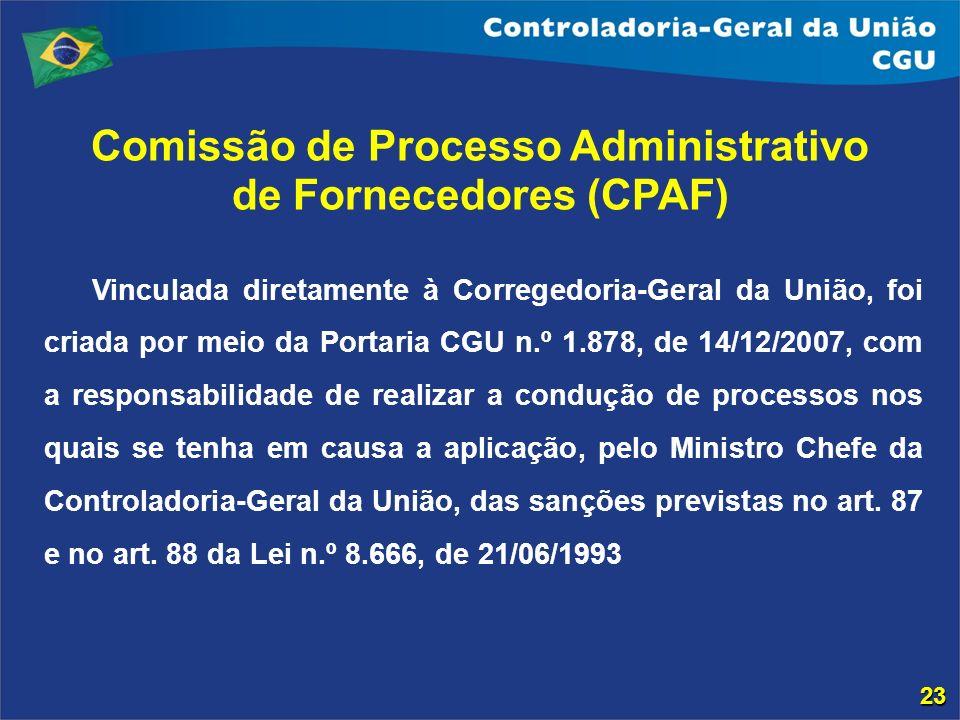 Comissão de Processo Administrativo de Fornecedores (CPAF)