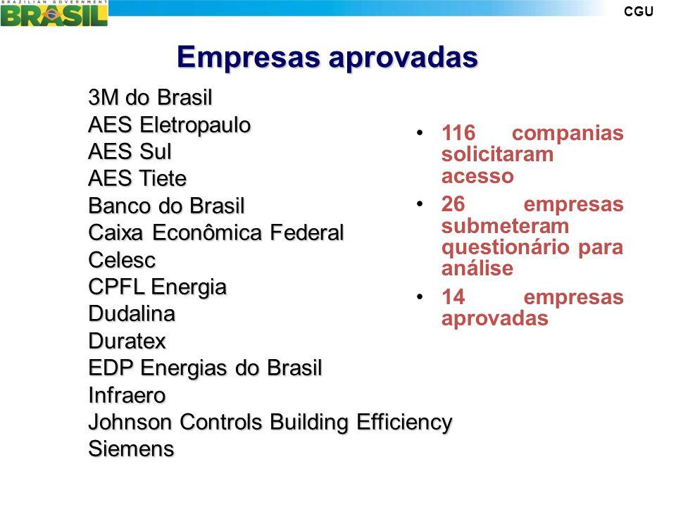 Empresas aprovadas